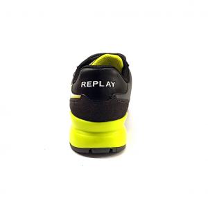Sneaker grigia/giallo fluo Replay
