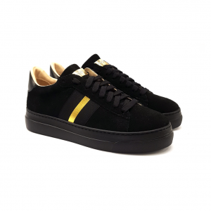 Sneaker nera con banda Stokton