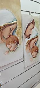 Capoletto Made in Italy Luigi Pesaresi per Estego raffigurante Madonna con Bambino cm. 34 x 65