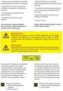 Conta etichetta con sensore etichette mancanti - Modello CLM214