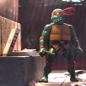 *PREORDER* Teenage Mutant Ninja Turtles: Ultimates Action Figure MICHELANGELO by Super 7