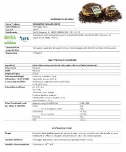 Formaggio stagionato in Giara in foglie di Rosmarino - 400gr