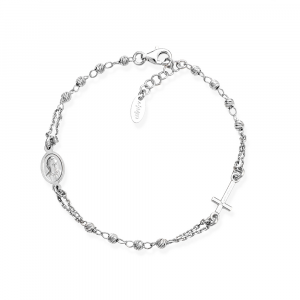 Bracciale Donna Rosario Argento Diamantato - Main view - small