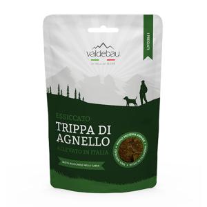 Snack per cani, 92%  essiccato di trippa di agnello, 90gr