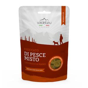 Snack per cani, 92% essiccato di pesce misto, 90gr