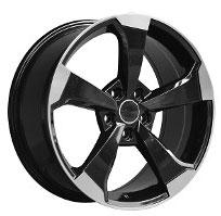 Cerchi in lega  2019 RS3  Dedica  AUDI  18''  Width 8   5x112  ET 45  CB 66.6    BLACK / POLISHED