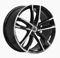 Cerchi in lega  RS7 2016  Dedica  AUDI  18''  Width 8   5x112  ET 45  CB 66.6    BLACK / POLISHED