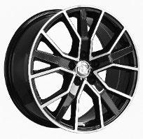 Cerchi in lega  2016 RS6 +  Dedica  AUDI  22''  Width 9.5   5x112  ET 25  CB 66.6    BLACK / POLISHED