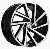 Cerchi in lega  2017 GOLF R  Dedica  VW & SKODA  18''  Width 8   5x112  ET 45  CB 57.1    BLACK / POLISHED