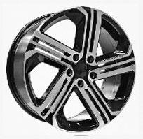 Cerchi in lega  GOLF R400  Dedica  VW & SKODA  18''  Width 8   5x112  ET 45  CB 57.1    BLACK / POLISHED