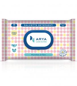 Arya - Salviette Detergenti - 3 confezioni da 40 salviette
