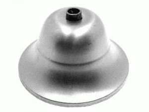 Rosone copri cavi per lampadari, metallo grezzo, Ø 9 cm, con collarino.