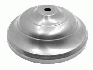 Rosone ornamentale per lampadari in ferro grezzo Ø140x46 mm con foro centrale Ø10 mm
