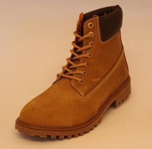 Polacco boot pelle UOMO carrarmato  yellow/dk brown RIVER SM00101