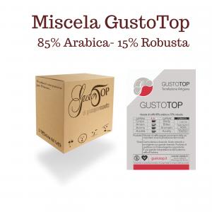 Miscela di Caffè in cialde GustoTop (85% arabica 15% robusta), confezione da n. 50 cialde in carta ese 44 mm compatibili