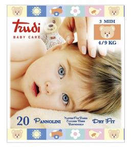 TRUDI BABY CARE PANNOLINI DRY FIT MIDI 4 9KG