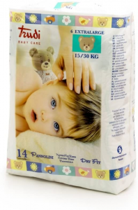 TRUDI BABY CARE PANNOLINI DRY FIT XL 15 30KG