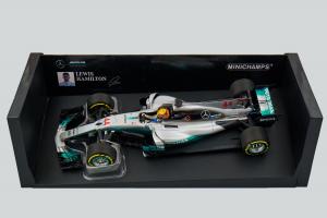 PMA Mercedes L. Hamilton 2017 Spanish Gp 1/18 Minichamps