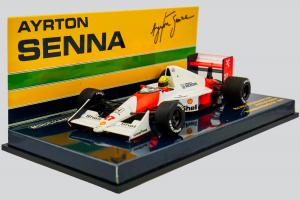 McLaren Honda Mp4/5B Ayrton Senna Winner Monaco Gp 1990 1/43 Minichamps