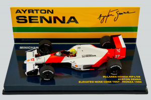 McLaren Honda Mp4/5B Ayrton Senna Elevated Nose Cone Test Monza 1990 1/43 Minichamps