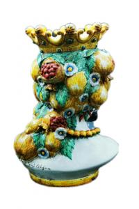 Moro Head with Pomegranates Man Caltagirone