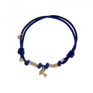 Bracciale Charms Cordino Blu