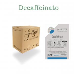 Caffè Decaffeinato in cialda GustoTop, confezioni da n. 50 e 200 cialde in carta ese 44 mm