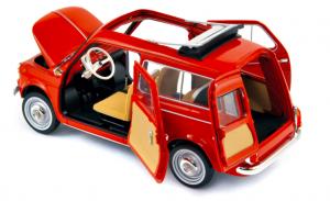 Fiat 500 Jardiniere 1960 Coralo Red 1/18 Norev