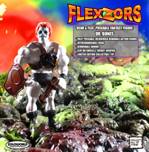 *PREORDER* FLEXZORS Bendable figures: DR. BONES Mad Scientist by Zoloworld