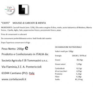 """Cioffì"" Mousse di Carciofi & Menta - 200gr"
