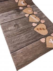 Tappeto effetto legno cuoricini