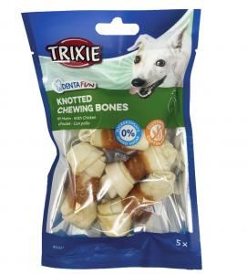 Trixie - Denta Fun - Osso annodati con pollo - 5cm 5 pezzi