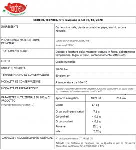 2,5Kg - Porchetta Marchigiana