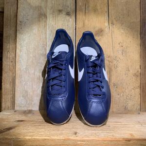 Scarpa Nike Classic Cortez Leather Blu Navy e Bianca