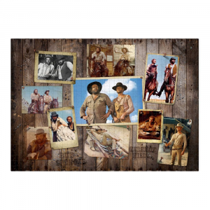 Bud Spencer & Terence Hill Jigsaw Puzzle Western Photo Wall (1000 pieces) by Oakie Doakie