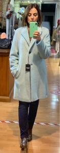 Cappottino maglia misto lana pelo lungo LineaEmme (Marella)