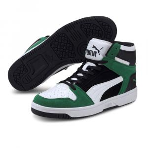 Puma Rebound Layup Nero Bianco Verde da Uomo