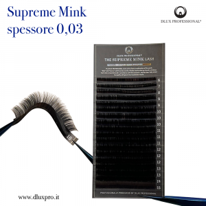 Ciglia per Extension 0,03 mm Supreme Mink, DLux Professional