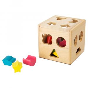 Cubo con elementi da incastrare gioco motricità