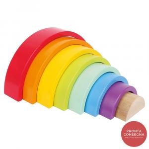 Arcobaleno motorio gioco in legno motricità bambini