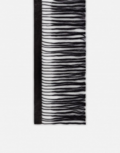 Sciarpa in raso con frange philosophy di lorenzo serafini