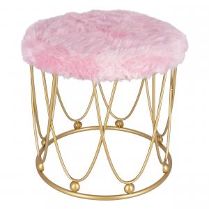 Pouf Glamour Rotondo Rosa