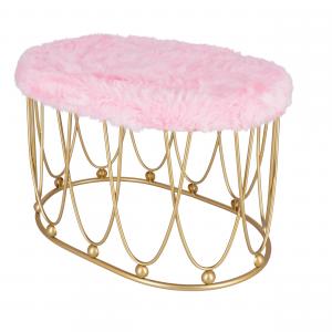 Pouf Glamour Ovale Rosa