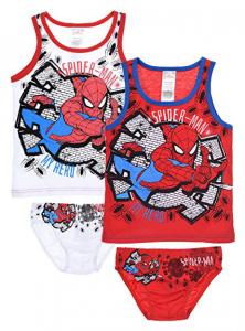 N. 2 Completi Canottiera + Slip Spiderman 2/3 Anni 4/5 Anni 6/8 Anni