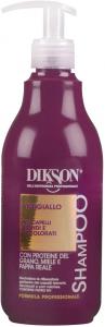 Dikson-Shampoo Antigiallo per capelli biondi e decolorati 500 ml