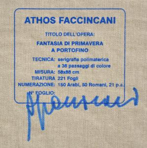 Faccincani Athos  Serigrafia polimaterica formato cm 58x88