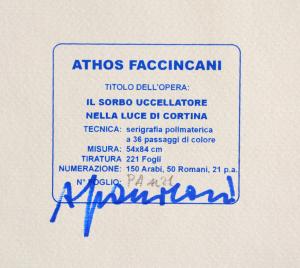 Faccincani Athos Serigrafia polimaterica Formato cm 70x100