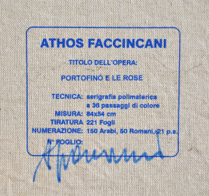 Faccincani Athos Serigrafia polimaterica su tela Formato cm 54x84