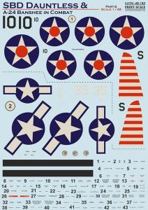 SBD Dauntless and A-24 Banshee