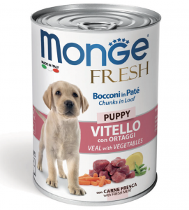 Monge - Fresh - Puppy - Vitello - 400gr x 24 lattine